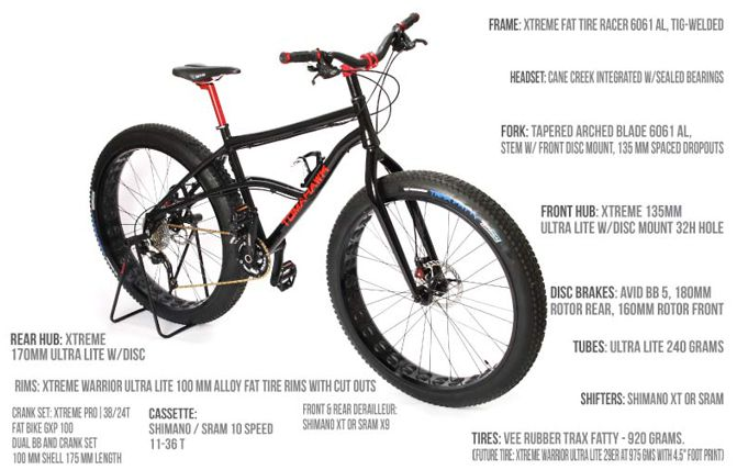 Xtreme Fat Tire Bike Design