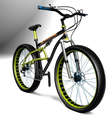Xtreme New Fat Tire Bike Design Lighter Rims With Cut Outs